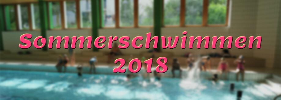 Sommerschwimmen, Freitag 22. Juni 2018